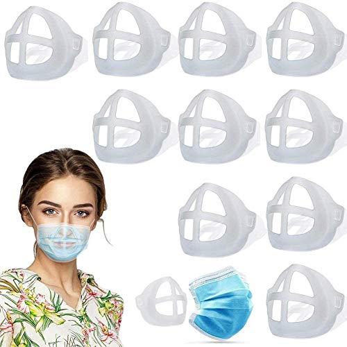 Silikon 3D-Maskenhalterung,Stützrahmen Nasenpolster Schützt Lippenstift, Atmen Stützrahmen Innenkissen für Nasenpolster für Mund und Nase, Verhindern Linse beschlägt,10 Stück