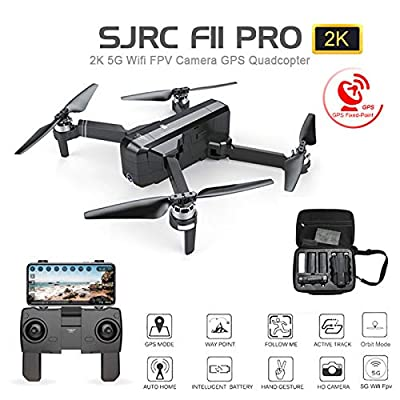 BeesClover SJ RC F11 PRO 5G Wifi GPS Brushless RC Drone 2K Camera with Storage Bag 3 battery