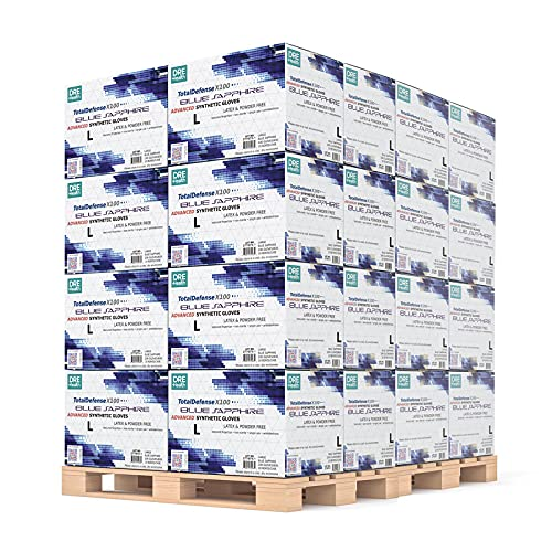 Bulk Disposable Gloves Large 105 Case Pallet, 10 Boxes of 100 -Synthetic Nitrile