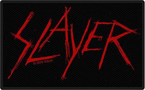 Slayer Logo Unisex Patch Standard 100% Polyester Band-Merch, Bands