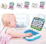 xiegons0 Niños Aprendizaje Portátil - Bebé Preescolar Tablet Ordenador Juego Niños Aprendizaje Pad Divertido Niño Educativo Estudio Juguetes Aprender Abecedario para Bebé Aprendizaje Interactivo