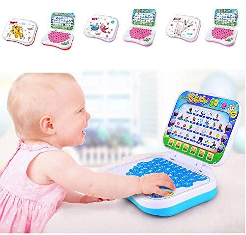 Xiegons0 Kinder Lernen Laptop - Baby Vorschule Tablet Computer Spiel Kinder Lernen Pad Spaß Kleinkind Bildungs Studie Spielzeug Lernen Alphabet für Baby Interaktives Lernen - Farbe Zufällig, free size