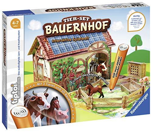 Ravensburger tiptoi Tier-Set Bauernhof Spiel, ab 4 Jahren, Interaktives Tier-Set Bauernhof mit drei Ravensburger tiptoi Spielfiguren