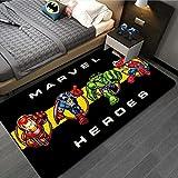 wanyouyinli The Avengers Marvel Team Tapis De Porte Super-Héros Tapis Spiderman Iron Man Captain America Tapis De Sol Chambre Paillasson Tapis Antidérapant Cadeau F-1771U 80X150Cm
