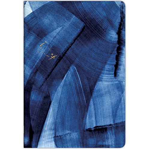 Clairefontaine 115718C - Quaderno rilegato a righe, 64 pagine, 21 x 29,7 cm, a righe, con margine 90 g, copertina con carta rivestita con motivo casuale