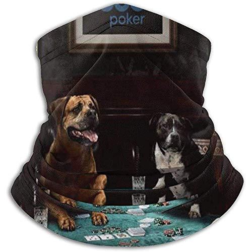 Archiba Chiens Jouant Au Poker en Molleton Cou Plus Chaud Cou Guêtre Couverture Cou Guêtre Tube en Polaire Visage Écharpe Cagoule