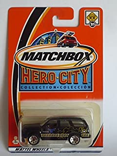 CADDY ESCALADE Matchbox 2002 Hero City Collection Black Cadillac Escalade 1:64 Scale Collectible Die Cast Metal Toy Car Model #21