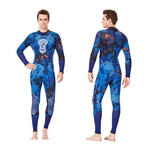 LIXILI Hombre De Traje De Neopreno 3Mm Neopreno Surfing Traje De Buceo De Una Pieza Tamaño De Spearfishing Snorkeling Manga Larga,XXL