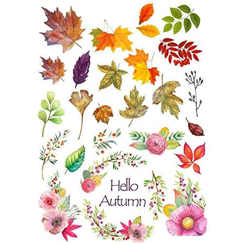 2 Stück/Los Hallo Herbstlaub Deko Sammelalbum Bullet Journal Briefpapier Aufkleber Planer Poster Patchwork Bastelbedarf