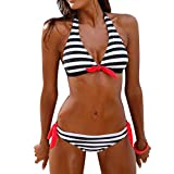 VEMOW Damen Bademode 2018 Frauen Striped Muster Bikini Set Badeanzüge Beachwear