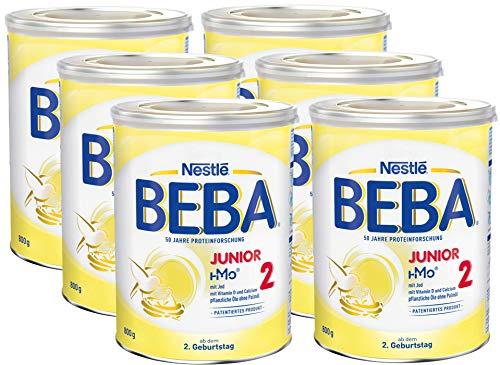 Nestlé BEBA Junior 2, Milchgetränk ab dem 2. Geburtstag, 6er Pack (6 x 800g)