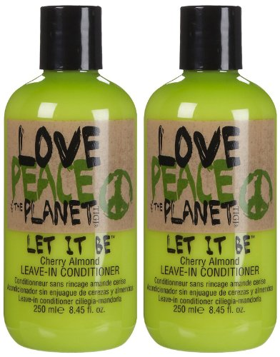 TIGI Love, Peace and The Planet Let it Be Leave-In Conditioner, Cherry Almond, 8.45 Ounce