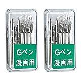 2Set X Zebra Comic G Model Chrome Pen Nib, Pack of 10 (PG-6C-C-K)