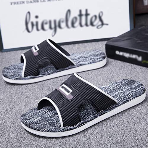 Chanclas Luz del hogar de Verano de Masaje Deslizadores de los Hombres de Cubierta Inferior Suave de Gran tamaño de baño Extra Grandes Sandalias y Zapatillas for Hombre Zapatos de Playa y Piscina