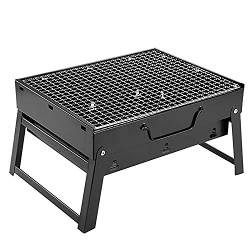 51Ltji3YxQS. SL500  - Jiaojie Holzkohlegrill für den Haushalt, zusammenklappbar, tragbar, Einweggrill, für den Außenbereich, schwarzer Stahlofen