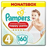 Pampers Premium Protection Pants, Gr. 4, 9-15kg, Monatsbox (1 x 160 Höschenwindeln), Federweiche Höschenwindeln Für Einfaches Anziehen