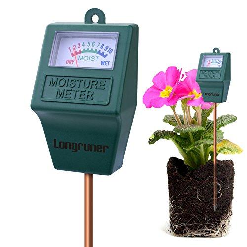 Longruner Medidor de Humedad del Suelo,Monitor de Agua del Suelo,Hidrómetro para Jardín,Granja,Plantas de Césped, Interior,Al Aire Libre(No Necesita batería) LKP02