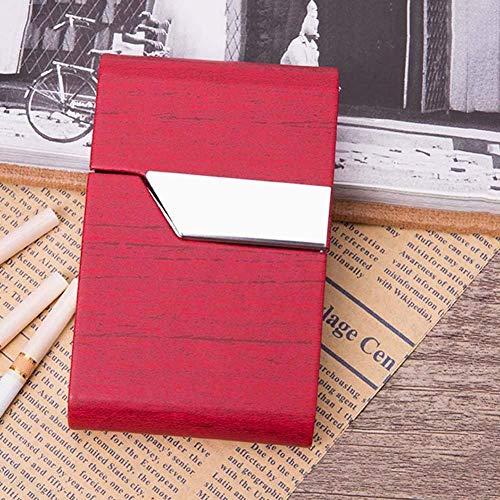 Alhj sigarettendoosjes, anti-knijpen, waterdicht, veelzijdig inzetbaar, roestvrij staal en synthetisch leer