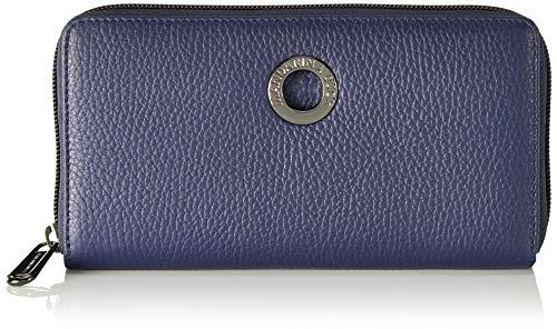 Mandarina Duck Damen Mellow Leather Portafoglio Geldbörsen, Blau (Dress Blue), 10x21x28.5 cm