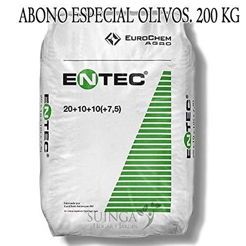 Suinga ABONO Fertilizante ENTEC Nitrofoska 20+10+10. 200 Kilos. Recomendado para OLIVOS. Inhibidor...