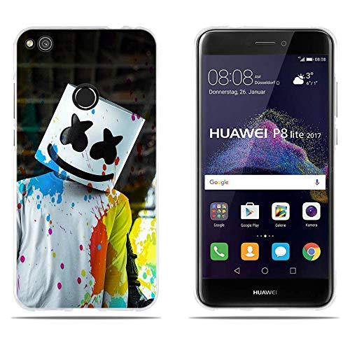 DIKAS para Huawei P8 Lite 2017/ Honor 8 Lite/ P9 Lite 2017, 3D Flexible a Los en Parte Trasera, para Huawei P8 Lite 2017/ Honor 8 Lite/ P9 Lite 2017 (5.2