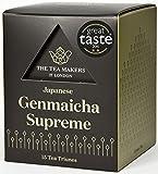The Tea Makers of London Supreme Japanese Genmaicha Green Tea Triunes - 15 Tea Bags