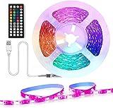 Retroilluminazione TV LED 2M, LED USB con telecomando con sincronizzazione TV da 40-60 pollici con musica, cambio colore con 16 colori e 4 modalità dinamiche, luci LED RGB 5050 per TV, PC, specchio SU