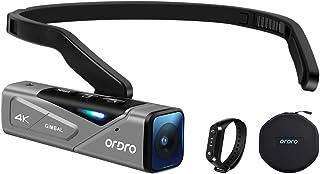 4K ビデオカメラ FPV設計 ORDRO EP7 4K 60FPS ウェアラブル式ビデオカメラ, IP65防水, Vlogカメラ, ミニカメラ, WI-FIアプリ制御, ジンバルスタビライザー, リモートコントロール, W1リモコン, キャリ...