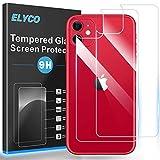 ELYCO [2 Piezas] Trasero Protector de Pantalla para iPhone 11 6.1, 9H Dureza Anti-Huellas/Anti-caída/Anti-rasguños Cristal Vidrio Templado Trasera de Vidrio para iPhone 11 [Compatible para Funda]