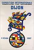 Dijon Salon vin 1967 Kunstdruck Poster Größe 50 x 70 cm