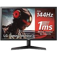"LG 24GL600F-B - Monitor Gaming QHD de 59,8 cm (24"") con panel TN (1920 x 1080 píxeles, 16:9, 1 ms, 144Hz, FreeSync LFC, 300 cd/m², 1000:1, NTSC >72%, DP x1, HDMI x2, auriculares) color negro"