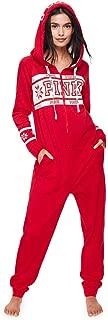 Victoria's Secret Long Jane Onesie Pajama & VS Pink Bling Giant Dog, Red Nordic Fairisle, XS