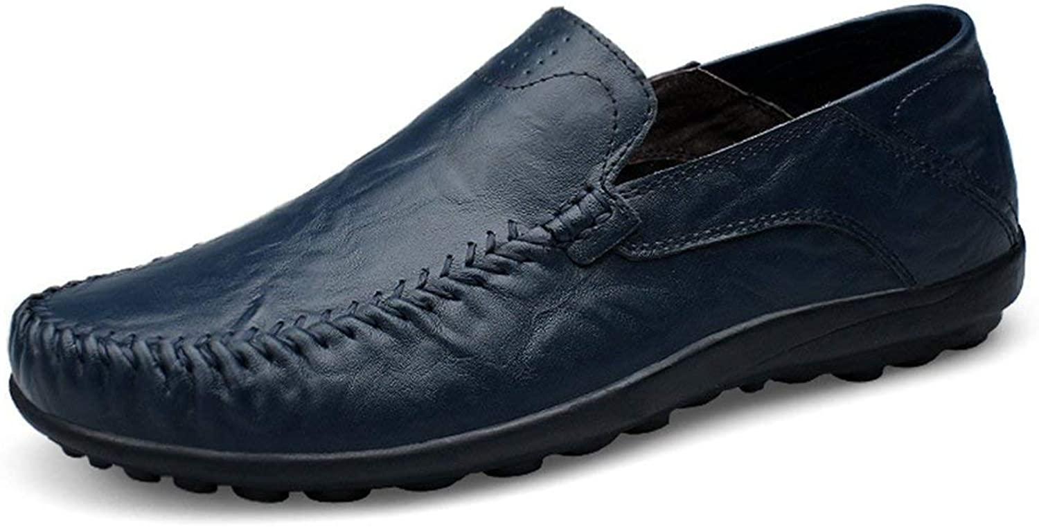ZHRUI Boy's Men's Solid Classic Slip-ons Dark bluee Casual Penny Loafers UK 10 (color   -, Size   -)