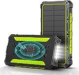 Cargador Solar 20000mAh,Power Bank Solar 【Entradas Tipo C &...