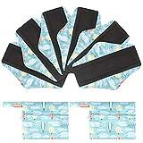 Viedouce Assorbenti Lgienici Lavabili in Fibra di Bambù,Super Assorbenza,Riutilizzabile Sanitari Panty Liners con 2 Impermeabili Borse di Stoccaggio (M * 6pcs, color-05)