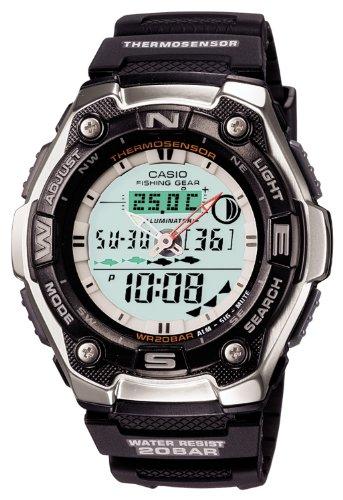 [カシオ] 腕時計 スポーツギア タイドグラフ AQW-101J-1AJF ブラック