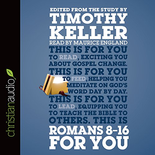 Romans 8-16 for You audiobook cover art