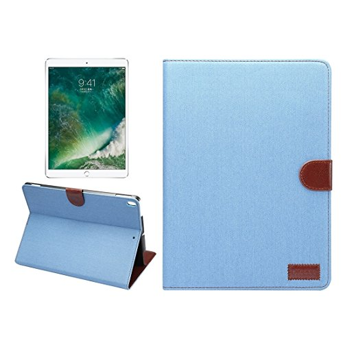 Un known For iPad Pro 10.5 inch Denim Cloth Texture Surface Horizontal Flip Leather Protective Case with Holder & Card Slots & Wallet & Sleep Accessory Compatible Replacement (Color : Baby blue)