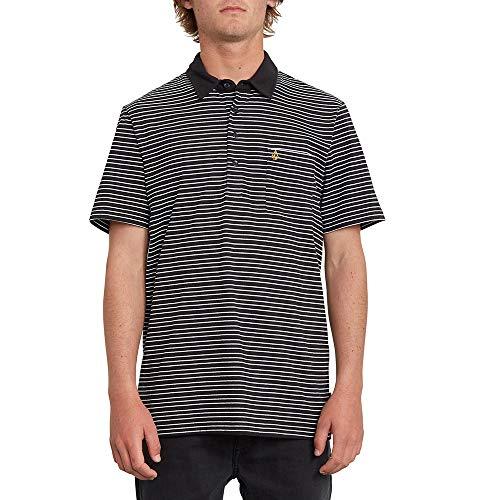 Volcom Smithers Polo Chemise pour Homme L Noir