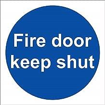 Fire Door Keep Shut Rigid Sign 10x10cm