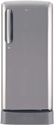 LG 190 L 5 Star Inverter Direct Cool Single Door Refrigerator (GL-D201APZY, Shiny Steel)
