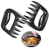 2 Carne Garras de Oso Tenedores,de Barbacoa Meat Claws,Pulled Pork, desmenuzar trozos, Set de 2 Barbacoa, Garras de Oso para Carne tierna, Negro, 12.5x12.5x3.5 cm