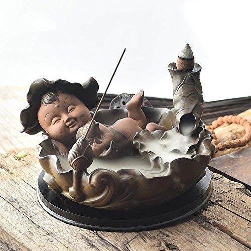 Great Deal! JIAHE115 Individual Aromatherapy Stove Backflow Incense Burner Ceramic Antique Creative ...