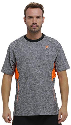 DROP SHOT Neo Camiseta Técnica de Tenis, Hombre, Gris, M