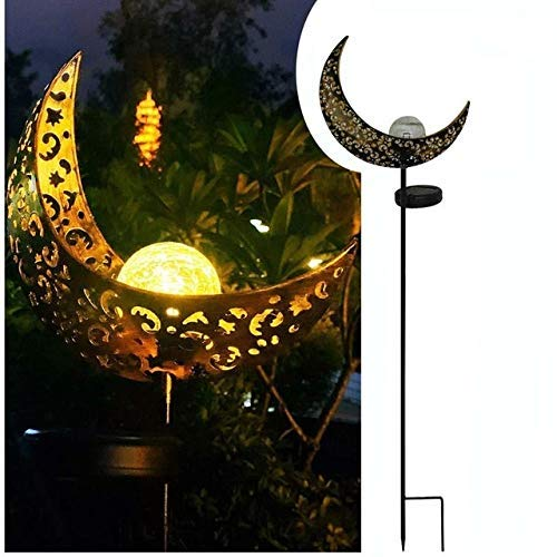 DHTOMC Solar light Waterproof Solar Light Lamp Metal LED Flame Effect Lamp for Garden Outdoor Ornaments Landscape Decorative (Color : 2, Size : Free)