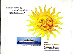 American Export SUNLANE Cruises to Mediterranean Booklet 1965 SS Independence