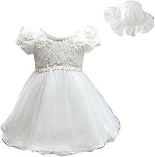 ZAH Newborns Toddler Infant Baby Girls Christening Baptism Wedding Party Gowns 2PC Dressess