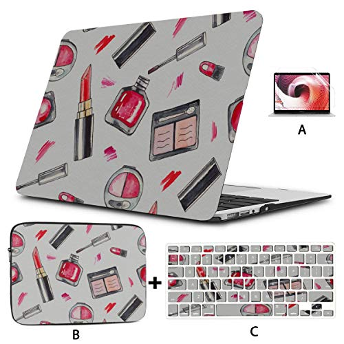 Macbook Pro Computer Case Cosmetics Make Up Products Set Macbook Protector Hard Shell Mac Air 11'/13' Pro 13'/15'/16' With Notebook Sleeve Bag For Macbook 2008-2020 Version