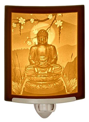 Buddha - Curved Porcelain Lithophane Night Light
