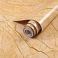 壁紙シール,自己粘着性の壁紙ピールアンドスティックキッチンキャビネット引き出しライナー防水DIYウォールステッカー-60cm * 5m_ゴールデンシルクジェイド